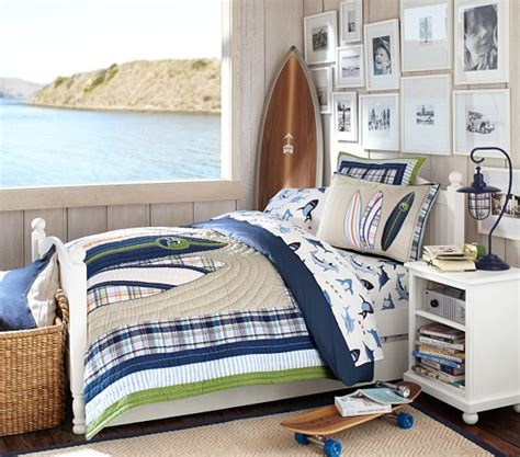 pottery barn boys bedding north shore quilted bedding pottery barn kids