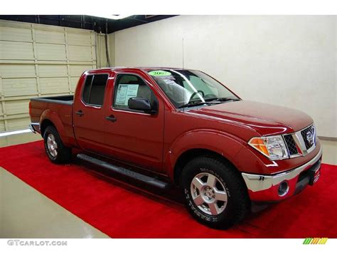 red nissan frontier 2007 red brawn nissan frontier se crew cab 18162441 photo