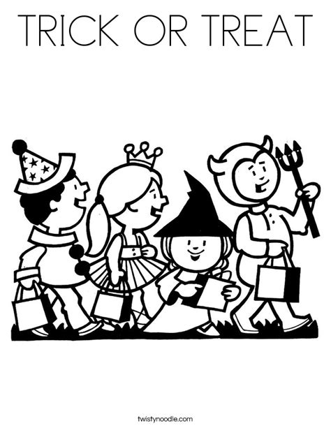 halloween coloring pages trick or treat trick or treat free coloring pages