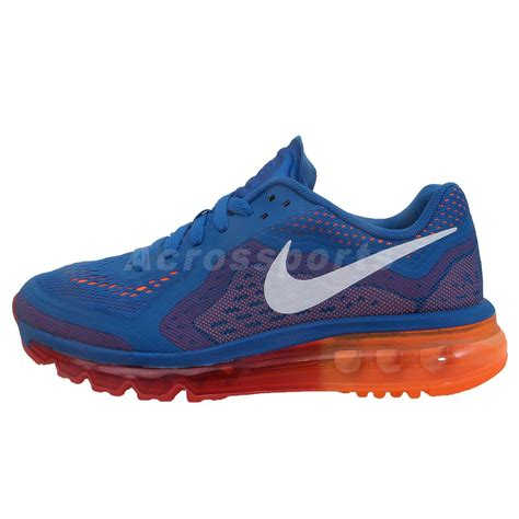 running shoes boys nike air max 2014 gs blue orange 2014 boys youth