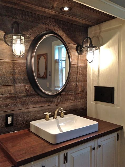 32 Cozy And Relaxing Farmhouse Bathroom Designs Digsdigs Industrial Bathroom Mirrors