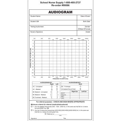 audiogram forms 100 pkg