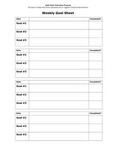 goal sheet template 13 best images of goals and objectives worksheet goal