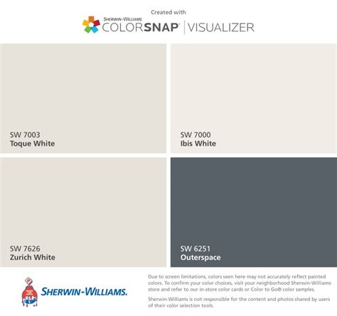 i found these colors with colorsnap 174 visualizer for iphone by sherwin williams toque white sw