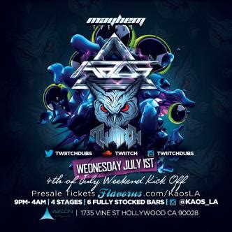 Kaos Flava 07 kaos avalon w guest from buygore tickets 07 01 15
