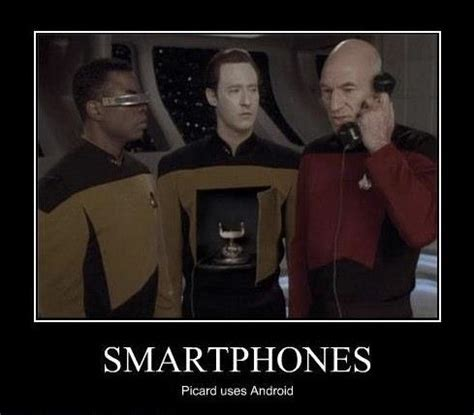 trek the next generation android trek is this image of picard using data as a phone from an actual episode science