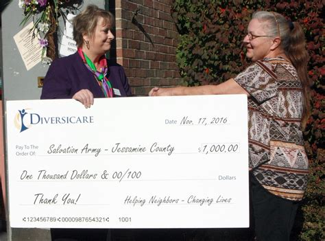 Salvation Army Birth Records Salvation Army Shares Donation With Food Drive Jessamine Journal