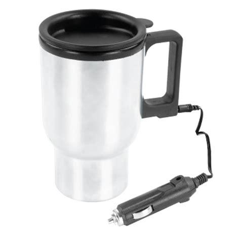 heated coffee mug rally heated 12 volt portable coffee mug automotive
