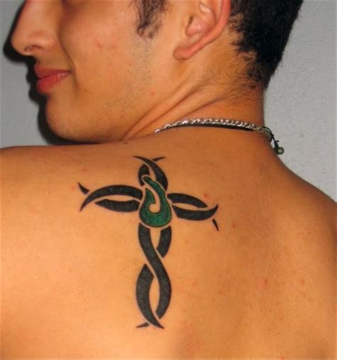 mens tattoos cross tattoos for tribal cross models designs