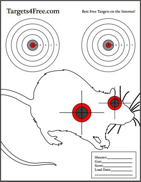 printable rat targets targets4free high quality free printable shooting targets