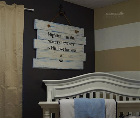 diy nursery decor psalm 93 diy wood pallet nursery sign