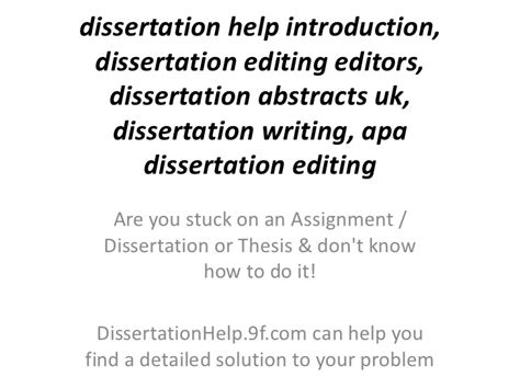 dissertation editors marketing dissertation help amr