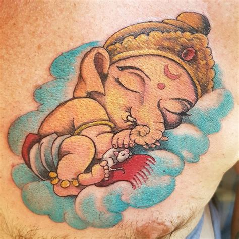 ganesha tattoo little baby ganesha by steve malley tattoonow