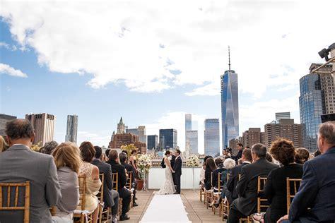 Wedding Ceremony Nyc by Wedding Dj Venue The Tribeca Rooftop Btl Djs Nyc