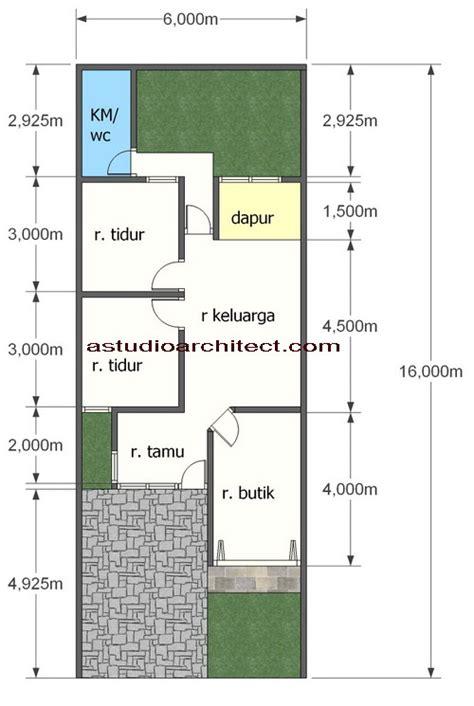 desain rumah gratis rumah  tempat usaha didepan  lahan     arsitektur rumah