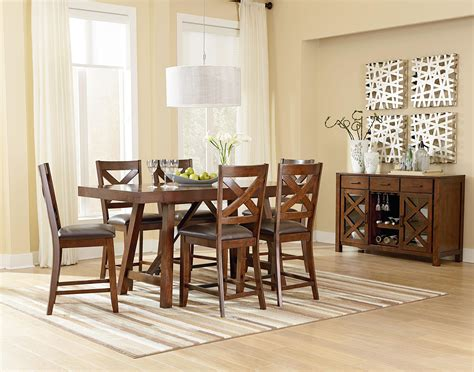 casual dining room tables standard furniture omaha brown casual dining room group