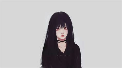 Anime With Black Hair by 1920x1080 Realistic Anime Black Hair
