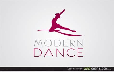 modern dance logo free vector logo template