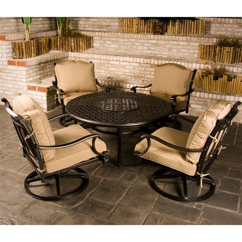 patio furniture pit set chateau outdoor patio furniture pit set