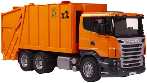 bruder garbage truck bruder scania r series garbage truck toy at mighty ape nz