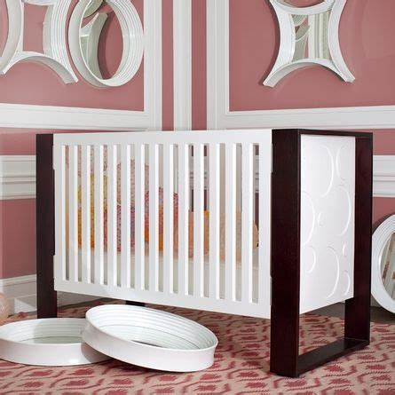 White And Brown Crib Awesome Modern Crib The Brown White Pink Combo