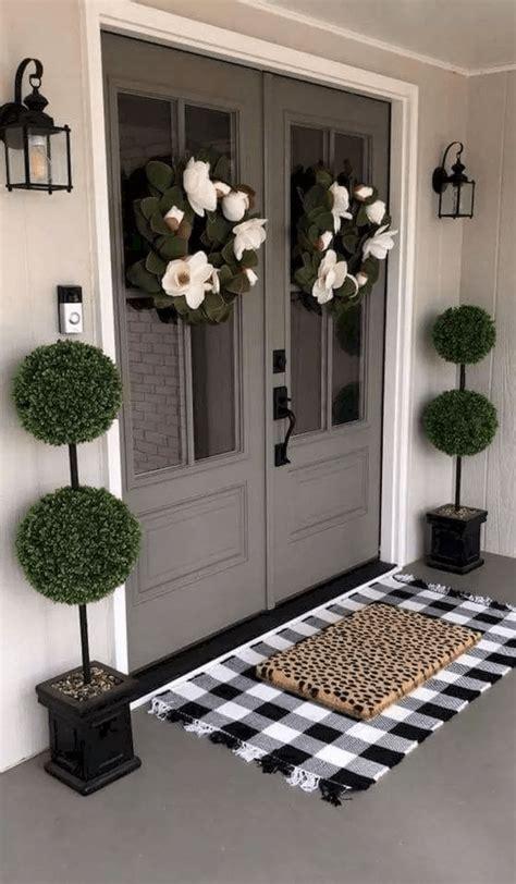 beautiful modern farmhouse front door entrance design