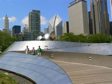frank gehry s bp pedestrian bridge in millennium park chicago