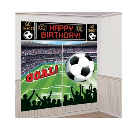 Decoration Anniversaire Football by D 233 Coration Murale Anniversaire Enfant Th 232 Me Football Pour
