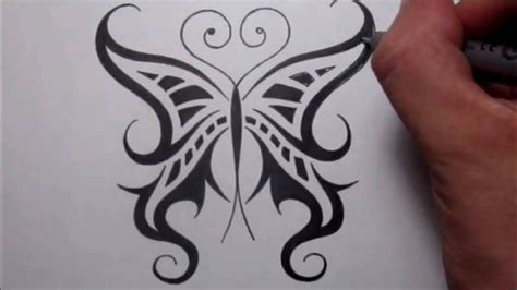 drawing a cool tribal butterfly design