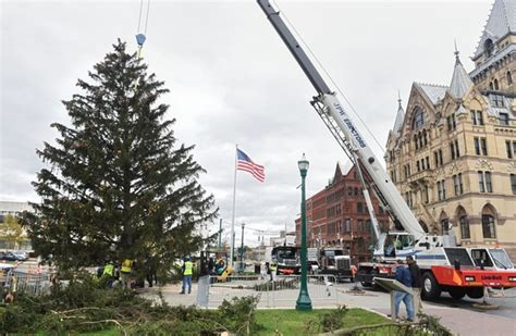 syracuse tree lighting 2017 your for a chance to light the clinton