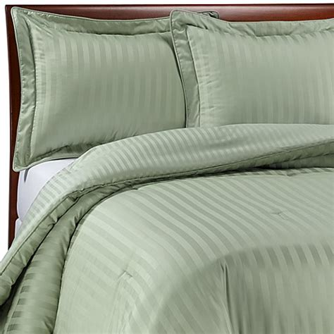 damask stripe comforter set wamsutta 174 damask stripe green comforter set bed bath