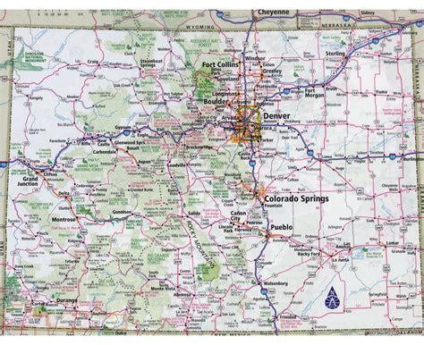map of cities in colorado colorado road maps my