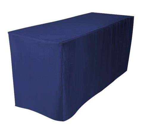 4 ft fitted polyester table cover booths banquet trade