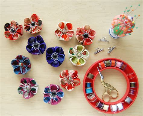 Handmade Fabric Flowers Tutorial - handmade flowers tutorial modern magazin