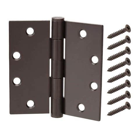 decorative door hinges everbilt 6 in x 425 in black heavy everbilt 3 1 2 in x 5 8 in oil rubbed bronze radius door
