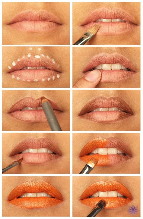 Blush Application Tutorial by How To Apply Lipstick Step By Step Tutorial
