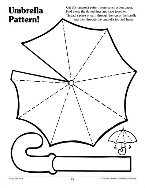 pattern for paper umbrella umbrella pattern scholastic printables templates