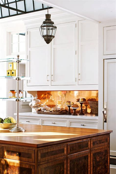 copper backsplash for kitchen 25 traditional kitchen design ideas