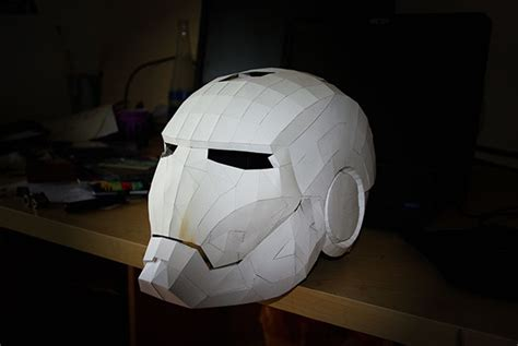 Papercraft Ironman Helmet - papercraft iron helmet wip on behance
