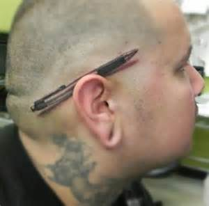 that pen pencil is a hyper realistic tattoos