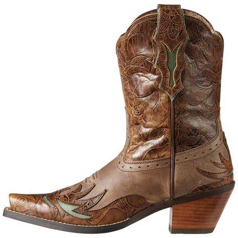 Dahlia In Brown ariat s dahlia cowboy boot in brown horses heels