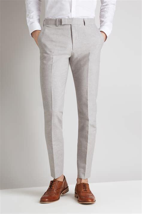 Linen Cotton moss light grey linen cotton linen trousers
