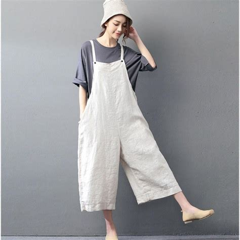 Overal Jumpsuit casual jumpsuit linen overall buykud