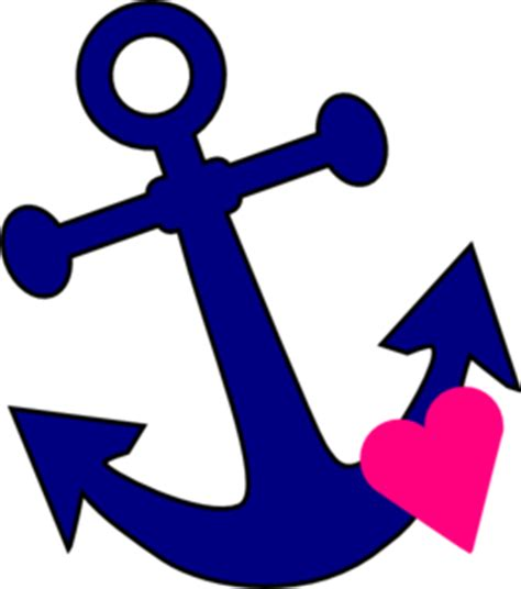 anchor with heart clip art at clker com vector clip art