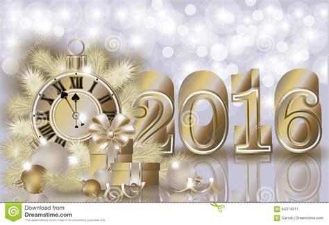 happy new year 2016 banner happy new 2016 year golden banner stock vector image
