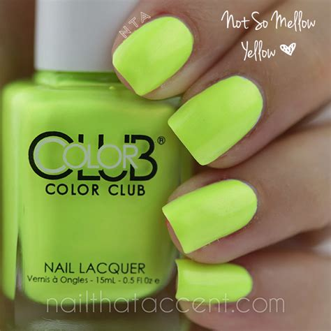 Not So Mellow Yellow by Color Club Poptastic Collection 2014 Nail That Accent