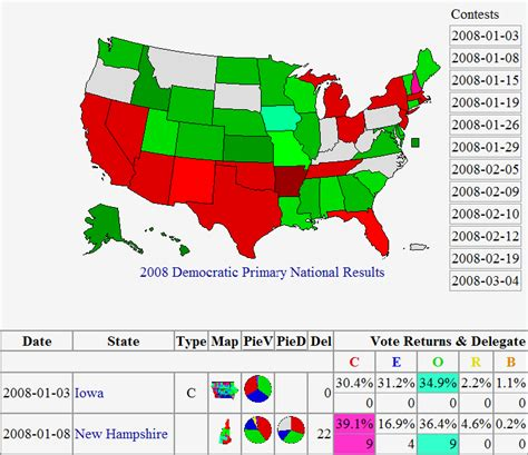 primary map 2008 primary maps from us election atlas political maps