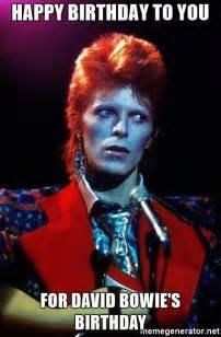 David Bowie Meme - david bowie happy birthday meme memes