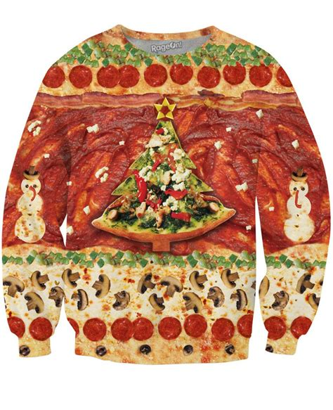 christmas pizza all i want for is pizza crewneck sweatshirt