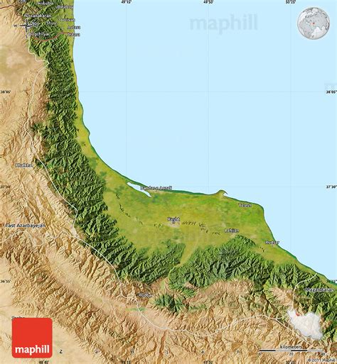 satellite map of iran satellite map of gilan